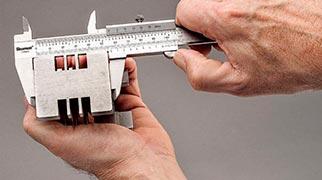 Paquímetro calibração