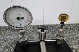 Calibração de prensa hidráulica