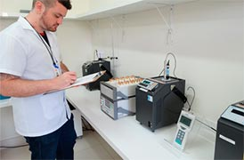 Calibração de material de laboratório